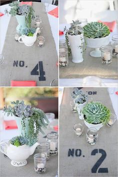 DIY Table Numbers - #diy #kendinyap #wedding #evlilik #düğün #tablenumber #diywedding