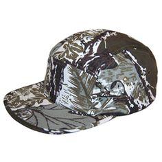 5 Panel Camp Cap Camper Hat Leaf Tree Native Camo Hawaii •Material: 100% Cotton