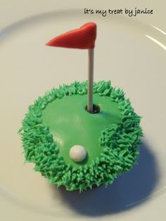 golf cupcake- for dad. yogurt covered blueberry for ball. graham cracker crushed for sand.  It's about more than golfing,  boating,  and beaches;  it's about a lifestyle  KW  http://pamelakemper.com/area-fun-blog.html?m