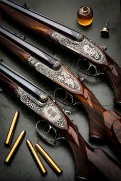 Holland & Holland Westley Richards and J Purdey Double Rifles Weapons Guns, Guns And Ammo, Gun Art, Lever Action, Shooting Guns, Fire Powers, Custom Guns, Metal Engraving, Hunting Rifles