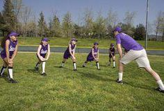 Youth and beginner softball players may benefit from drills that teach them not to fear the ball. Many of these drills substitute a lighter ball for a traditional softball to make catching and throwing less hazardous. In addition, many such practice sessions focus on building a player's confidence. As a result, the appropriate drills often... #youthbaseball Softball Workouts, Softball Drills, Softball Coach, Fastpitch Softball, Softball Players, Softball Uniforms, Softball Shirts, Girls Softball, Softball Stuff
