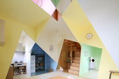 Japanese home, colorful and angle-loving, is a kaleidoscopic delight - Curbedclockmenumore-arrow : The clever designers at Kochi Architect's Studio are at it again