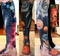 Amazing space galaxy tattoo!