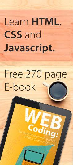 Lean HTML CSS JavaScript web programming. Free e-book from lukefabish.com