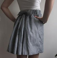 Easy Skirt With A Fluffy Back.  Needs to be mid-calf for me, but I like the near-bustle effect.