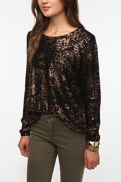 Sparkle & Fade Foil Sweater