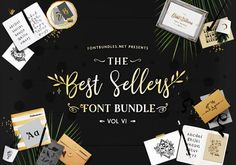The Best Sellers Font Bundle VI includes 78 of the worlds greatest fonts from 40 font families all at off the regular price for a limited time only! Great Fonts, All Fonts, Silhouette Cameo, Silhouette Studio, Side Step Card, Step Cards, Retro Font, Branding, Premium Fonts