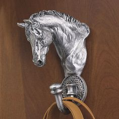 Antique Silver Finish Horse Wall Hook - Horse Themed Gifts, Clothing, Jewelry and Accessories all for Horse Lovers | Back In The Saddle