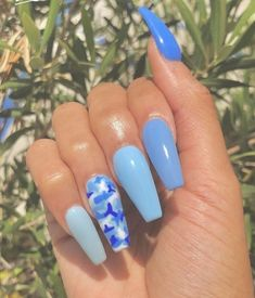acrylic nails, beautiful nails, long nails, beautiful nails – My CMS Blue Acrylic Nails, Summer Acrylic Nails, Summer Nails, Acrylic Nail Designs For Summer, Laque Nail Bar, Aycrlic Nails, Sexy Nails, Stiletto Nails, Coffin Nails