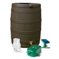 Rain Wizard Eco Kit Includes 50 Gallon Capacity Barrel Diverter And A Solar