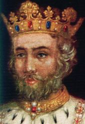 Edward II (25 April 1284 – 21 September 1327), was King of England from 1307 until he was deposed by his wife Isabella in January 1327. He was the sixth Plantagenet king, in a line that began with the reign of Henry II. Between the strong reigns of his father Edward I and son Edward III, the reign of Edward II was considered by some to be disastrous for England, marked by alleged incompetence, political squabbling and military defeats.