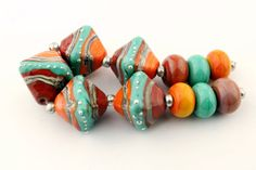 Handmade Lampwork Glass Bead Set  Chunky by StoneDesignsbySheila