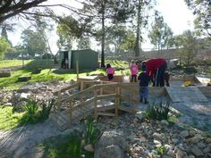 dry creek bed and bridge - preschool