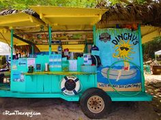 Dinghy's Beach Bar & Grill, Water Island. Just a 10 minute ferry ride from St. Thomas on gorgeous Honeymoon Beach!