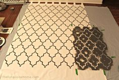 How to Stencil Curtains {The Turquoise Home}