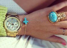 watch + dainty bracelet