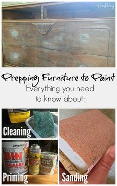 Do I really need to sand? When do I need to use primer? Tips for preparing furniture to paint with milk paint, chalk paint, latex paint, or spray paint.
