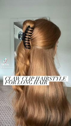 Clip Hairstyles, Braided Hairstyles Updo, Quick Hairstyles, Hair Upstyles, Love Your Hair, Good Hair Day, Aesthetic Hair, Hair Hacks, Hair Trends