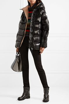 Moncler | Liriope quilted glossed-shell down hooded coat | NET-A-PORTER.COM