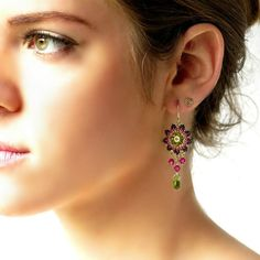 Excited to share the latest addition to my #etsy shop: Christmas gift for her, Dangle earring, Swarovski earring, Green earrings, Chandelier earrings, Green drop earrings, Beaded earrings #christmasgifts #xmasgifts #womengifts #jewelrygifts