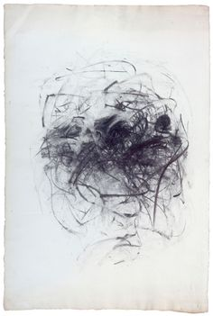 Untitled (charcoal on paper) 1967, Joan Mitchell