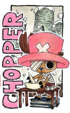 One Piece - Chopper Manga Art, Manga Anime, Mugiwara No Luffy, One Piece Chopper, The Pirate King, Fandom, Monkey D Luffy, One Piece Manga, Anime Comics
