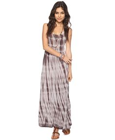 A tie dyed maxi dress featuring a round neckline and racerback. Forever 21.