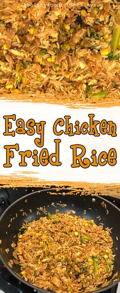 Easy & Delicious Chicken Fried Rice Recipe you must try at home Chicken Fried Rice Chinese, Chicken Fried Rice Recipe Easy, Chicken Fried Cauliflower Rice, Veggie Fried Rice, Chicken Rice Recipes, Easy Rice Recipes, Fried Chicken, Fried Rice Calories, Carbs In Chicken