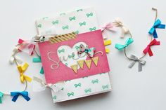 Sweet Girl Mini Album for Crate Paper by adriennealvis at @Studio_Calico