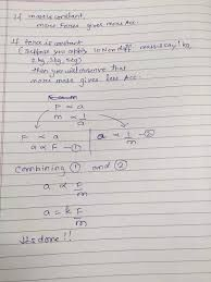 Image Result For The Equation For Newton S Second Law Of Motion Newtons Second Law Newton Equation