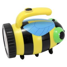 Your entire family will fall in love with this adorable Bibi Bee Flashlight from Melissa & Doug. This whimsical and practical light features an articulated bee design, dimensional eyes and feet, and an easy-to-grip handle for added convenience. This fun flashlight will come in handy when your family camps out under the stars. The portable design makes it great for traveling, too. This Melissa & Doug flashlight also makes a thoughtful gift for a young child who enjoys reading at night....