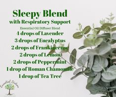 Sleepy Blend for Diffusing Eucalyptus essential oil has a . Sleepy Blend for Diffusing Eucalyptus essential oil has a refreshing Essential Oil Diffuser Blends, Doterra Essential Oils, Young Living Essential Oils, Sleepy Essential Oil Blend, Eucalyptus Essential Oil, Eucalyptus Oil, Cough Remedies For Adults, Oils For Energy, Natural Asthma Remedies