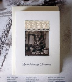 Merry Vintage Christmas Card  Handmade by Maria Ernest Fragopoulou