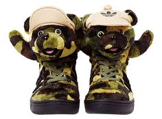 adidas Originals x Jeremy Scott CAMOBEAR [EARTH GREEN/BLACK/SHIFT OLIVE] Q20917
