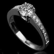 Holyland-1 CT ROUND CUT REAL DIAMOND PROMISE RING 14K WG GOLD YG