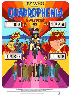 QUADROPHENIA Pin Ball Machine: based on the 1979 film when the mods and rockers descend on Brighton for a bank holiday weekend (the artwork features The Palace Pier) Posters Diy, Film Posters, The Best Films, Great Movies, Mafia, Vintage Concert Posters, Mod Girl, Music Machine, Power Pop
