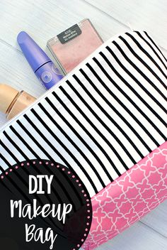 Diy Makeup Bag Pattern - Crazy Little Projects DIY Makeup Bag Pattern - Crazy Little Projects makeup diy tutorials - Makeup Diy Tutorials Easy Sewing Projects, Sewing Hacks, Sewing Tutorials, Sewing Tips, Diy Projects, Simple Projects, Diy Bags Purses, Diy Purse, Maquillaje Diy