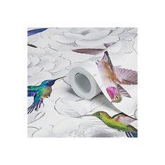 View Aruba Floral Birds Wallpaper details - B&Q  Rainbow hummingbirds!
