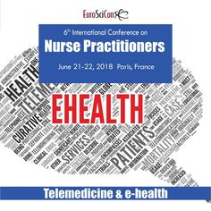 This is basically what patients have to know in the past as counseling over the phone. However, technology today allows telehealth #nursing to reach and monitor patients and their conditions. 6th International Conference on Advance #Nurse Practitioners Event Date & Time: June 21-22, 2018 Event Location: Paris, France see more: https://nursepractitioners.euroscicon.com/