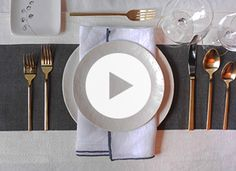 How to set the table properly via @PureWow ^~^ I have NO IDEA WHY I decided to watch this. It is handy for those that need or care to know, (& it's short and the music is jazzy), but it's just myself and my dog, (who believes she's worthy of all the flair), but until then I hope someone enjoys this. It was cutely done. ❤