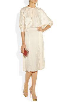 Nina RicciPleated Satin Dress!!!!   LOVEEEEE!!!!!