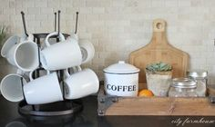 Coffee Station & Drying Rack by Cost Plus World Market. cute with my wooden tray: