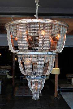Reclaimed Metal and Bicycle Ceiling-Mount Chandelier- 33 inch height x 25 inch diameter - Facaro, CONNECT 22. $3,500.00, via Etsy.