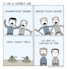 Poorly Drawn Lines, confusing turtles