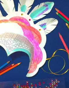 Printable carnival headpiece with simple instructions to make at home - 4 amazing carnival designs with bright and bold colors. Join the carnival today! Carnival Activities, Carnival Crafts, Carnival Costumes, Diy Costumes, Costume Hats, Carnival Ideas, Costume Parties, Learning Activities, Costume Ideas