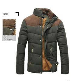 2016 Winter Splicing Cotton-Padded Coat Men's Fashion Jacket