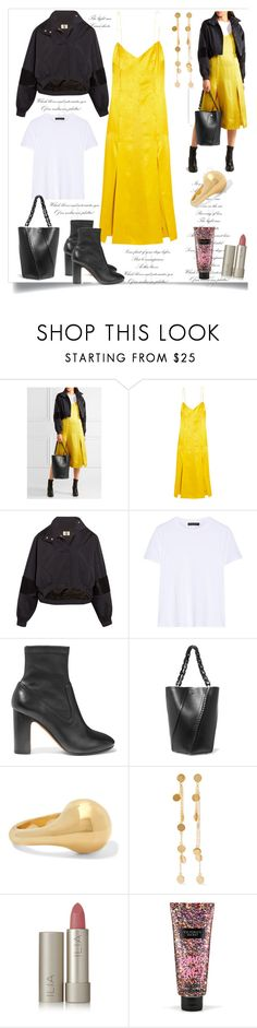 """trendy look by rousou"" by rousou ❤ liked on Polyvore featuring Proenza Schouler, Topshop Unique, The Row, Vince, Jennifer Fisher, Arme De L'Amour, Ilia and Victoria's Secret"