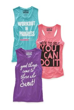 In our fun, bright jersey knit tank tops, your workouts never looked better.