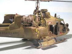 Great details. Vietnam war huey gunship