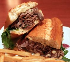 Carved Prime Chuck Roast Beef Sandwich at Be Our Guest Restaurant #DisneyFood